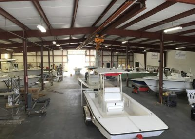 full view of the boat garage