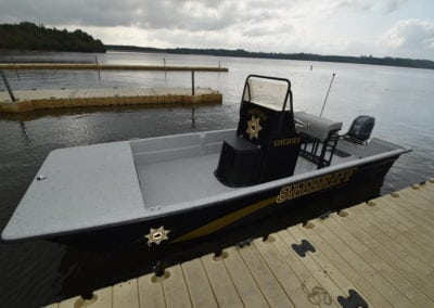 sheriff boat side view