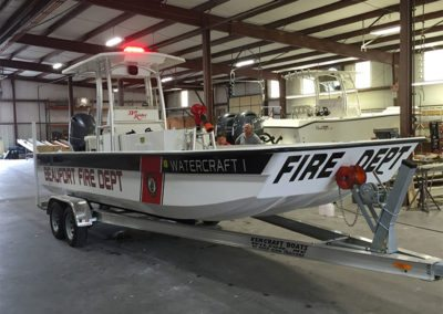 custom beaufort fire department bayrider skiff boat