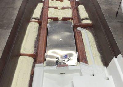 installing a boats fuel tank